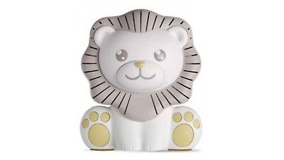NEW Project Nursery SoundSoother Lion SOUND MACHINE with NIGHTLIGHT White/Gray