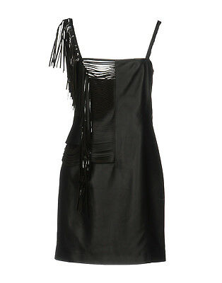 59a432f4f4d VERSUS VERSACE Anthony Vaccarello cutout leather fringe short mini dress 42  NEW
