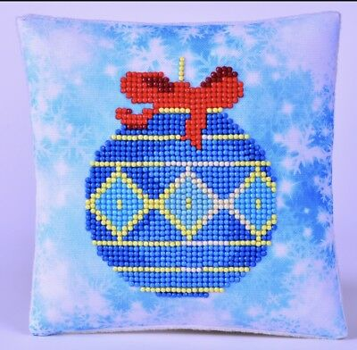 Diamond DOTZ BLUE BAUBLE MINI PILLOW CLOSING STORE SALE ITEMS ARE MARKED DOWN