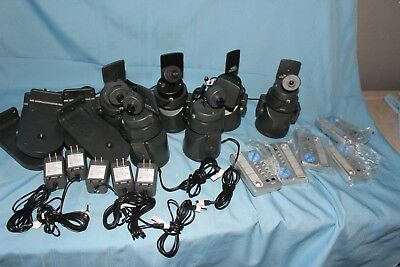 LOT OF 6 X10 Ninja Pan and Tilt Base Camera System w/ 5 Remotes - READ