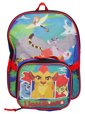 """Toddler Boys Lion Guard Backpack 12"""" & Insulated Lunch Bag 2Pc"""