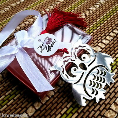 1PC Stainless Steel Owl Bookmark Silver Tone Present Gift