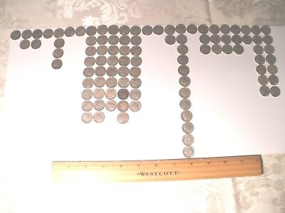 Circulated Silver Dime Collection- Mercury and Roosevelt- total of 100