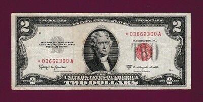 Fr.1512  $2  1953C  STAR  LEGAL TENDER RED SEAL UNITED STATES NOTE # *03662300 A