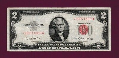 Fr.1509  $2  1953  STAR  LEGAL TENDER RED SEAL NOTE LOW SERIAL # * 00071809 A