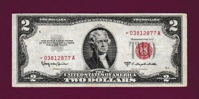 Fr.1512  $2  1953C  STAR  LEGAL TENDER RED SEAL UNITED STATES NOTE # *03812877 A
