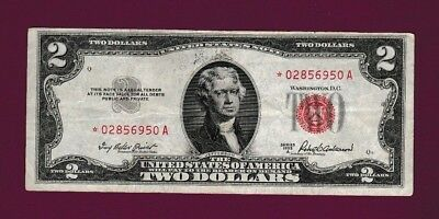 Fr.1511  $2  1953A  STAR LEGAL TENDER RED SEAL UNITED STATES NOTE # *02856950 A