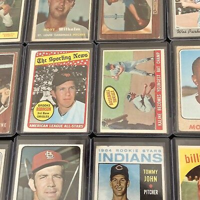 **VINTAGE BASEBALL CARD LOT!** (7) RANDOM BASEBALL CARDS 1950 - 1970! NO 80s 90s