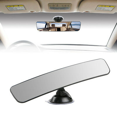 Auto Car Truck Wide Flat Interior Rear View Mirror Camera Suction Stick Rearview