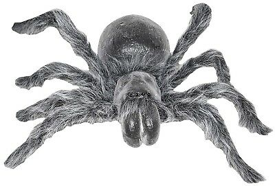 Large Fuzzy Posable Spider Halloween Prop, 30 Inches