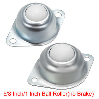 5/8 Inch/1 Inch Roller Ball Transfer Bearing Units Flange Mounted White