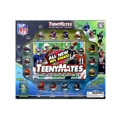 """TeenyMates 1"""" NFL Collectible Figures Player Wide Receiver Collector Gift Set"""