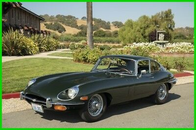 1969 Jaguar E-Type 4.2 liter Series 2 Coupe 4.2 LITER ETYPE COUPE ORIG BRITISH RACING GREEN #MATCH GARAGED LOW MILES SOLID!