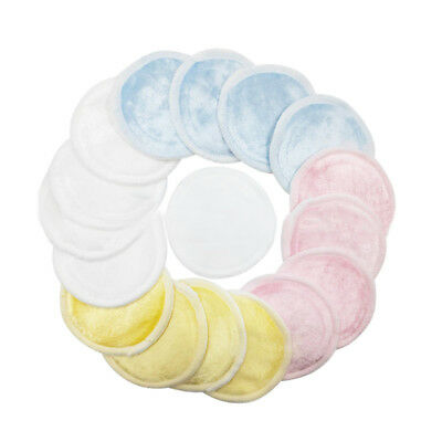 10x Bamboo Cotton Reusable Facial Cleaner Face Wipes Cleaning Makeup Remover Pad
