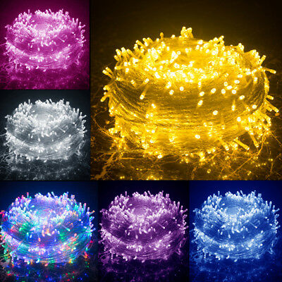 30M 50M 100M LED Fairy String Lights Wedding Christmas Party Indoor Outdoor