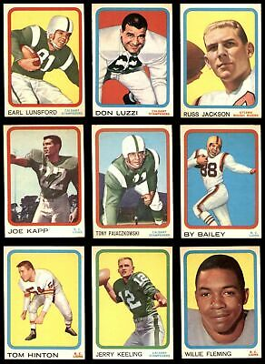 1963 Topps CFL Complete Set - Stained (Pre-built) EX