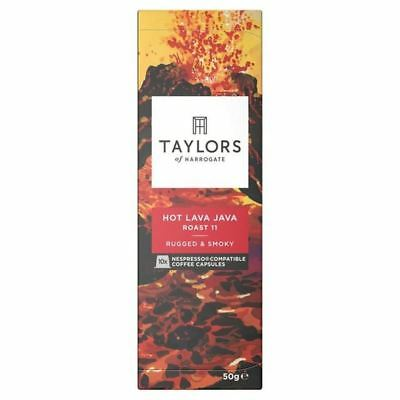 6x Taylors Hot Lava Java Nespresso Compatible Coffee Capsules 10 per pack
