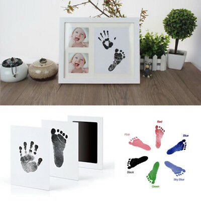 Baby Souvenir Footprint Hand Print Photo Frame Ink Pad Picture Frame Baby Shower