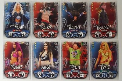 Topps WWE SLAM ATTAX LIVE Trading Card Base set of 312 RAW - Smackdown - LEGENDS