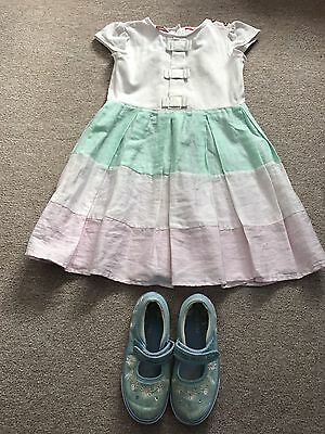 TED BAKER 5-6 Year Old Girls Party Summer Holiday Dress Shoes Infant UK 10 Eur28