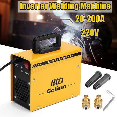 DC 220V 200Amp ZX7-200D IGBT MMA ARC Inverter Welding Soldering Portable Machine