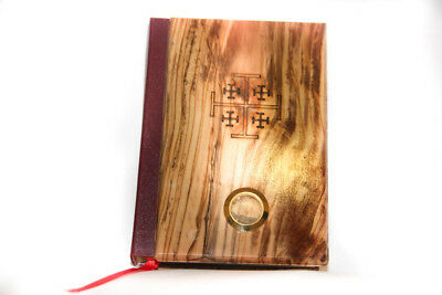 Holy Bible covered  with olive wood 100% original from Holy Land