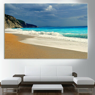 BEACH Greece Colorful beautiful Canvas collection Home decor wall print art