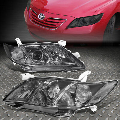For 2007-2009 Toyota Camry Smoked Housing Clear Corner Projector Headlight/lamp