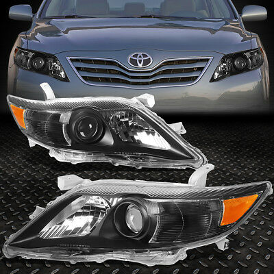 For 2010-2011 Toyota Camry Black Housing Amber Corner Projector Headlight/lamp