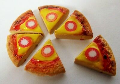 Dolls House Miniature Food * 6 X Pizza Slices * Handmade Combined P+P