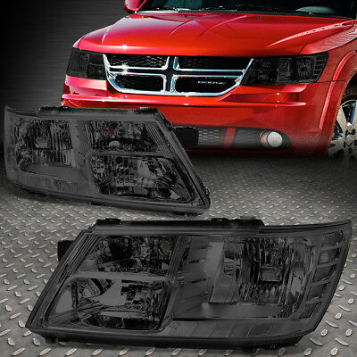 For 09-17 Dodge Journey Pair Smoked Housing Clear Corner Driving Headlight/lamps