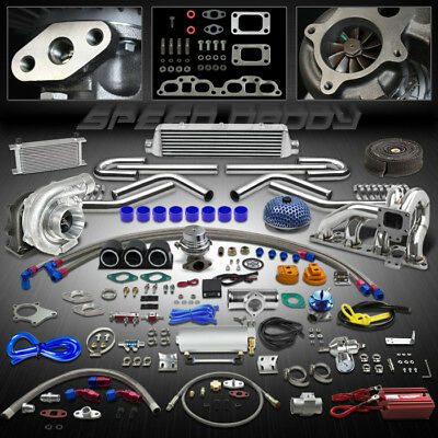 T04 24P T3 400+Hp Turbo/Charger Kit+Manifold+Intercooler For 240Sx S13/S14 Sr20