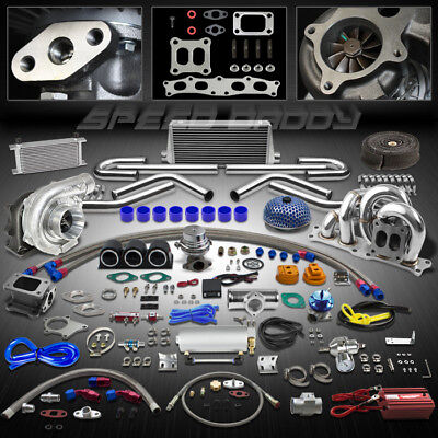 T04E 25Pc Ct25 Turbo Kit+Wg+Manifold+Intercooler 86-93 Celica 91-95 Mr2 3Sgte