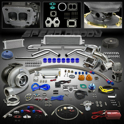 Gt45 19Pc T4 Turbo Kit Turbocharger+Manifold+Intercooler 86-91 Mazda Rx-7/Rx7 Fc