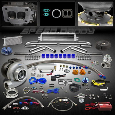 Gt45 18P T4 Universal Turbo Kit Stage Iii Turbocharger+Intercooler+Wg+Oil Cooler