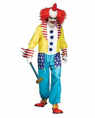 Adults Wicked Circus Horror Clown Master Halloween Fancy Dress Costume