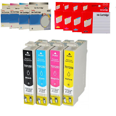 Cartuccia Compatibile No Originale Per Epson 1281-1284 Kit Bk C M Y
