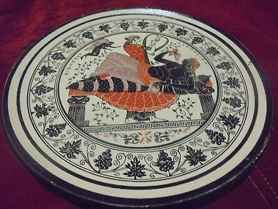 Greek Mythical Terra Cotta Wall Hanging Plate