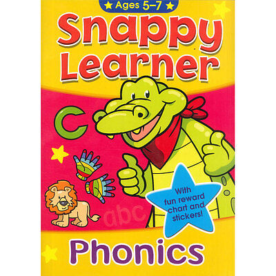 Snappy Learner Phonics Book, Reward Chart & Stickers Age 5-7 Educational School