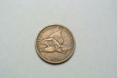1858 Flying Eagle Cent Small Letters, VF Details, Cheap! - C6691