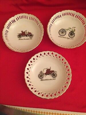 """Lot of 3 Napco Hand-Painted 5"""" Porcelain Bowl S978"""