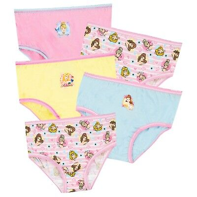 Disney Princess Underwear Pack of 5 | Girls Disney Undies | Kids Princess Pants