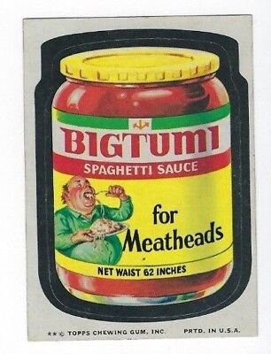 1974 Topps Wacky Packages 10th Series 10 BIGTUMI SPAGHETTI SAUCE nm-