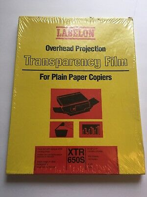 Labelon Overhead Projection Transparency Film XTR 650RBS 100 sheets 4 mil
