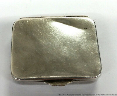 AL Ltd Antique Sterling Silver Vinaigrette Trinket Snuff Box Chester 1912