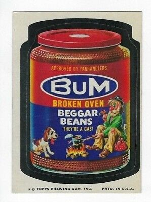 1974 Topps Wacky Packages 10th Series 10 BuM BEGGAR BEANS nm- o/c