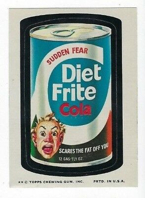 1974 Topps Wacky Packages 10th Series 10 DIET FRITE COLA nm- o/c