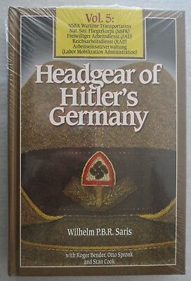 BENDER WW2 Collector Reference BOOK HEADGEAR of HITLERS GERMANY Vol.5 New Unused