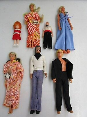 Vintage Doll Lot Kenner GMFGI Bionic Woman Sonny Annie Tuesday Taylor