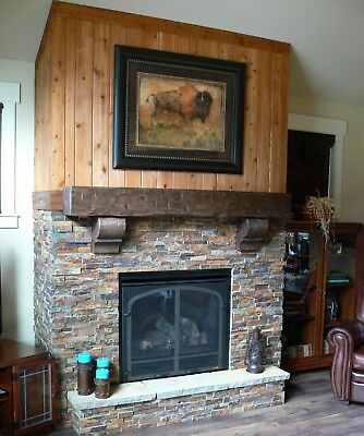 Pine Hand Hewn Rustic 5 Foot 60 Barn Beam Style Fireplace Mantel Solid